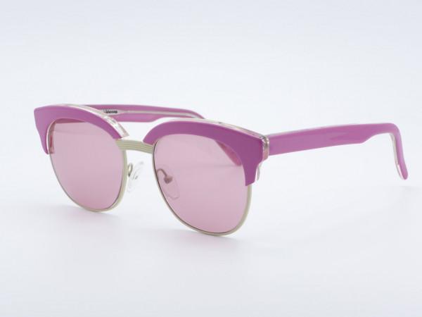 Schau Schau Rosa Pink Panto Form Frau Damen Sonnenbrille Lila Gläser GrauGlasses