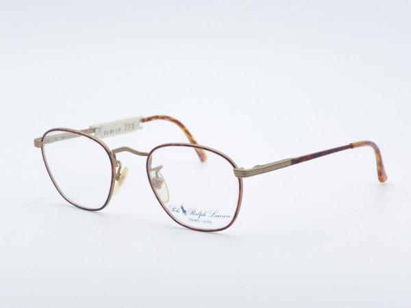 Polo Ralph Lauren 32 runde Metall Herrenbrille Bernsteinfarbe GrauGlasses