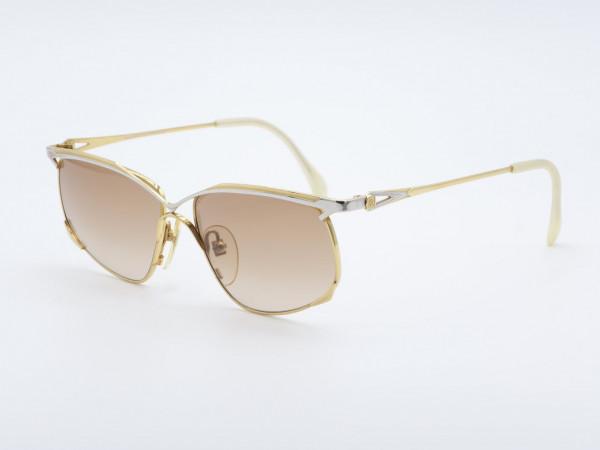 Roman Rothschild 1023 Gold Silber Damen Sonnenbrille Frauen Metall Rahmen Schweiz GrauGlasses