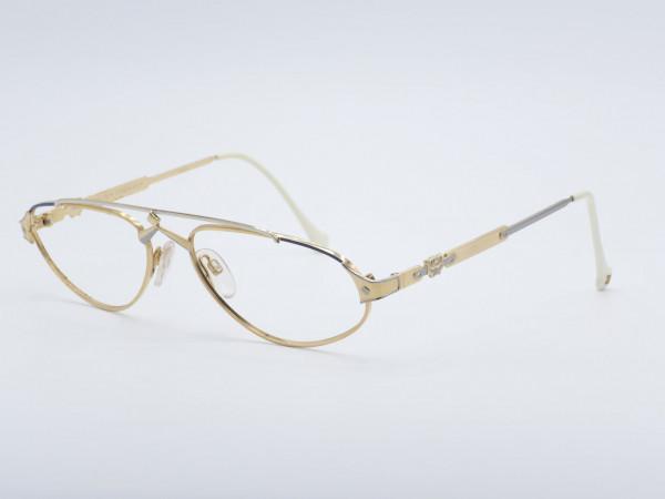 MCM München Goldene Frau Metall Rahmen Luxus Brille Deutschland GrauGlasses