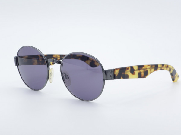 YSL Yves Saint Laurent 6010 runde Frau Männer Sonnenbrille Leopardenmuster
