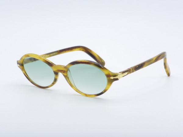Persol Ratti Irene Oval 90er Damen Sonnenbrille honigbraun Frauenrahmen GrauGlasses