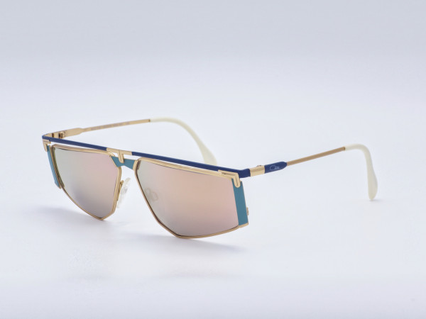 CAZAL West Germany Luxus Damen Sonnenbrille Verspiegelte goldene Gläser 80er Jahre Neu GrauGlasses