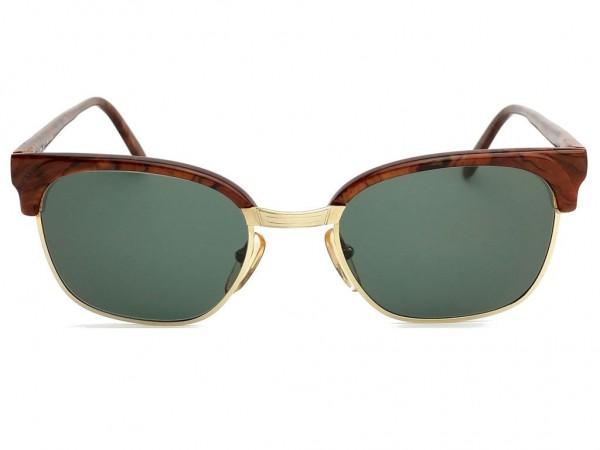 Brendel Panto Vintage Sonnenbrille 14 KT Gold Filled Wurzelholz Optik