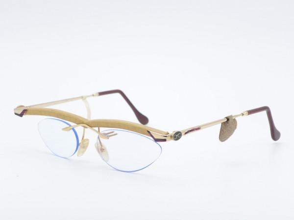 two Lu's edition St. Jory 22ct Holz Gold Herren Luxus Damen Brille Modell C1