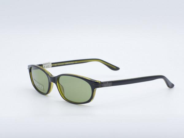 GUCCI rechteckige Sonnenbrille grüner Rahmen Moderne Modell GG2462/S GrauGlasses