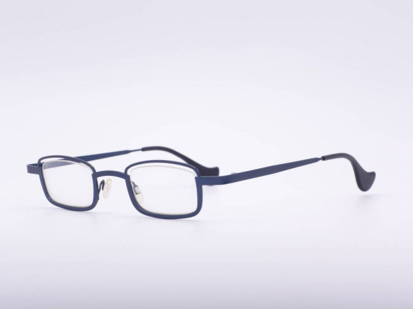Theo Eyewear Blaue Metall Brille Eckig Damen Fassung Belgien GrauGlasses