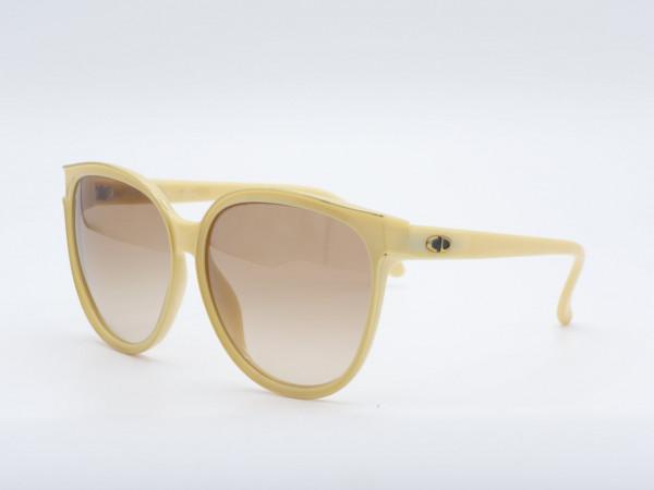 DIOR 2159 Schmetterling große 70er Jahre Sonnenbrille Frau Gestell gelb GrauGlasses