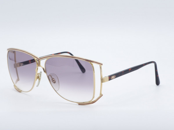 Christian Dior 2688 Luxus-Sonnenbrille Golden Butterfly Oversized Metall Frame GrauGlasses