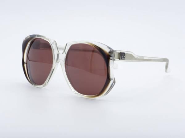 Pierre Cardin 216 Schmetterling transparent Übergroße Frau 80er Jahre Sonnenbrille Damen Brille GrauGlasses