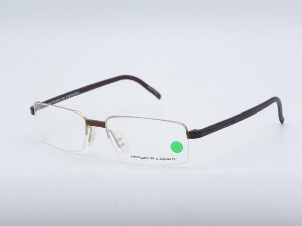 PORSCHE DESIGN 8006 Halbrand Männer Luxus-Brille modernen Herren Rahmen GrauGlasses