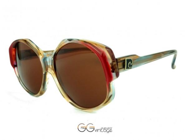 Pierre Cardin Oversized Damen Kunststoff Designer Sonnenbrille Model 213 Braune Gläser