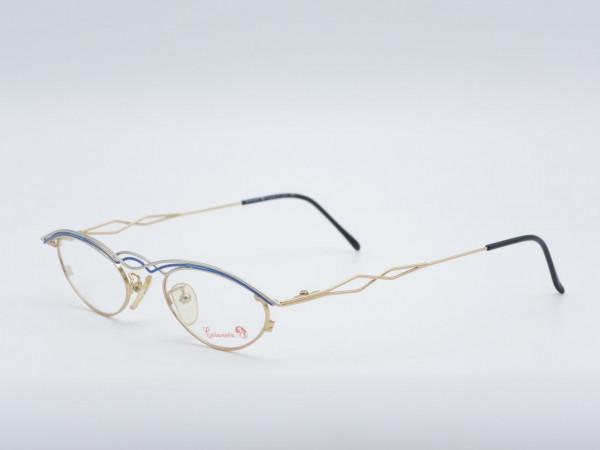 Casanova 45 oval Frau Vintage Metall Brille seltenen Rahmen GrauGlasses