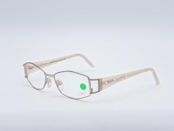Cazal Luxus Damen Brille mit Strass Steinen Crystal Ornamente Rechteckiger Metall Rahmen GrauGlasses