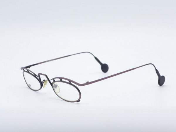 l.a. Eyeworks ovale Metall Fassung Brille Augenbaue Kupfer Bronze Vintage Modell PECK GrauGlasses