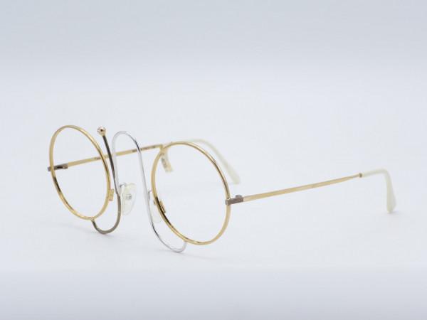 Casanova CMR1 Runde Einzigartige Seltene goldene Frau Brille Metallrahmen Vintage Luxus GrauGlasses