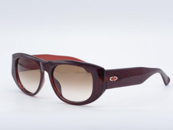 DIOR 2556 Massive rote rechteckige Sonnenbrille 90er Jahre Vintage Fassung Optyl GrauGlasses