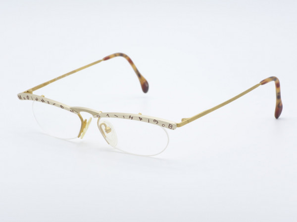 MilliB Mikado Halb Rand Handgefertigte Damen Brille Letter Top Frauen Fassung