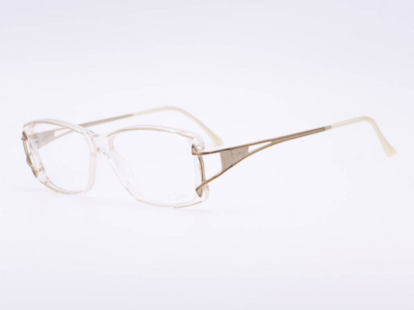 Cazal Transparent Gold Bronze Vintage Damen Fassung Modell 318 Kunststoff Frauen Brille GrauGlassses