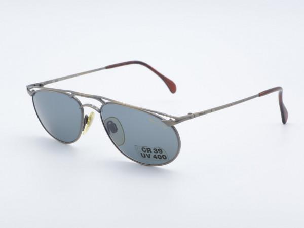 JAGUAR 3759 ovale Männer Frauen Sonnenbrille Metallrahmen Balken Design GrauGlasses