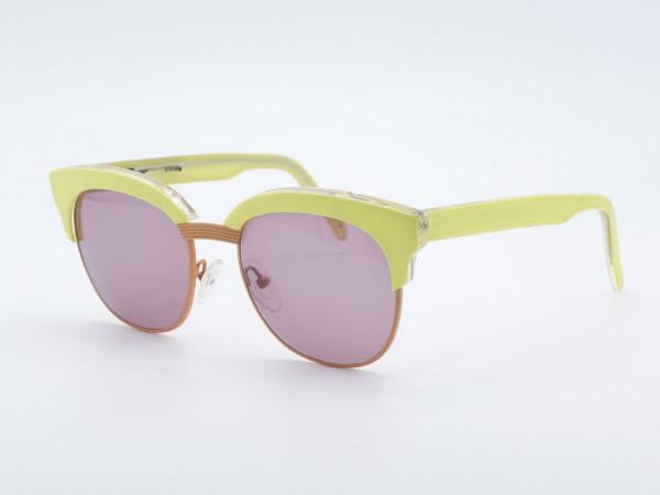 Schau Schau Gelbe Panto Form Frau Sonnenbrille Lila Gläser