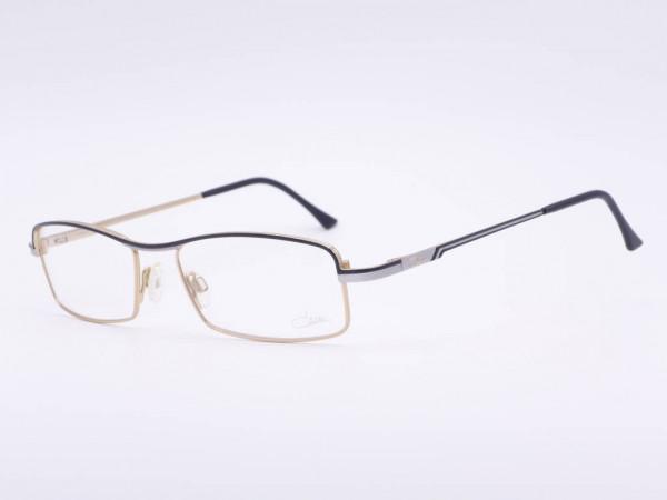 Rechteckige Cazal Herren Brille Luxus Modell 710 Männer Fassung in Schwarz Silber GrauGlassses