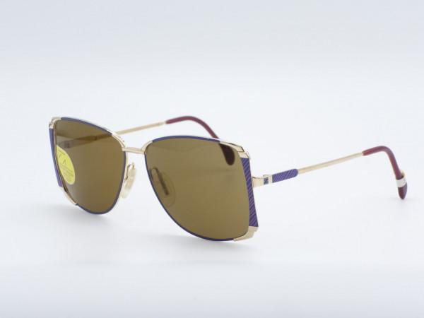ZEISS 9293 Quadratisch Blau goldene Metall Damen Sonnenbrille Deutschland