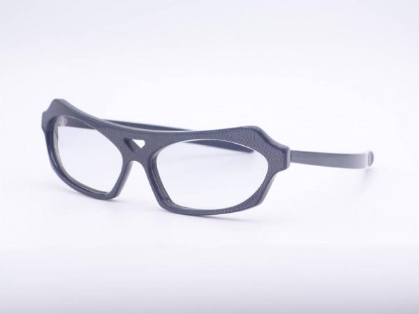 Anne Marie Beretta grau schimernd Herren Brille von 1986, Massiver Rahmen