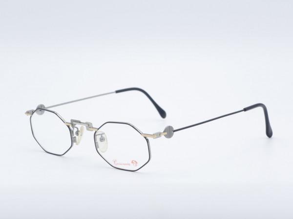 Casanova RVC9 Achteck schwarz Herren Brille Metallrahmen Vintage besonderes Design GrauGlasses