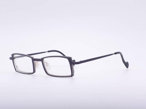 Theo Eyewear dunkel braun rechteckig Unisex Brille Belgium GrauGlasses
