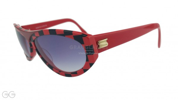 Silhouette Sonnenbrille rot/schwarz Modell M3041/20 Color 2729