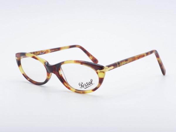 Persol Ratti 317 ovale bernsteinfarbene Damenbrille 90er Jahre Leopardenmuster Rahmen