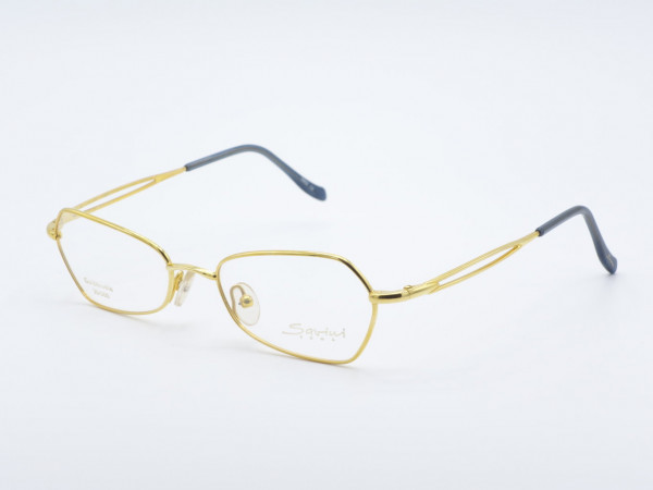 Savini 31140 Golddouble Rechteckiger Damen Brille Goldene Frau Metall Fassung Rahmen Italien