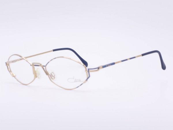Cazal Vintage Metall Damen Brille Modell 415 Verspielte Frauen Fassung Gemusterter Rahmen GrauGlassses