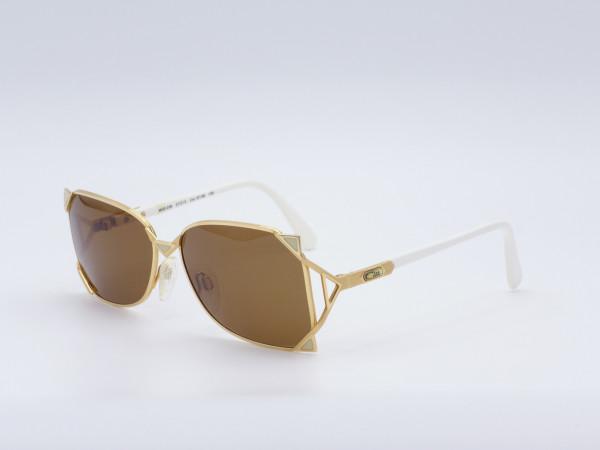 CAZAL 236 Damen 80s Sonnenbrille Goldener Rahmen Braune Sonnen Gläser Einzelstück Vintage GrauGlasses