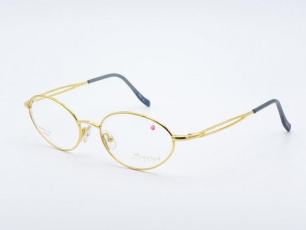 Savini 31130 Golddouble Oval Damen Brille Goldene Frau Metall Fassung Rahmen Italien