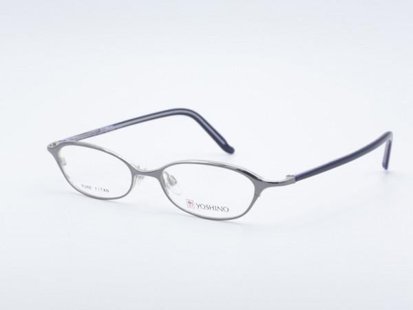 Yoshino ovale Titan Herren Damen Brille silbern Lila Leichte Metall Fassung GrauGlasses