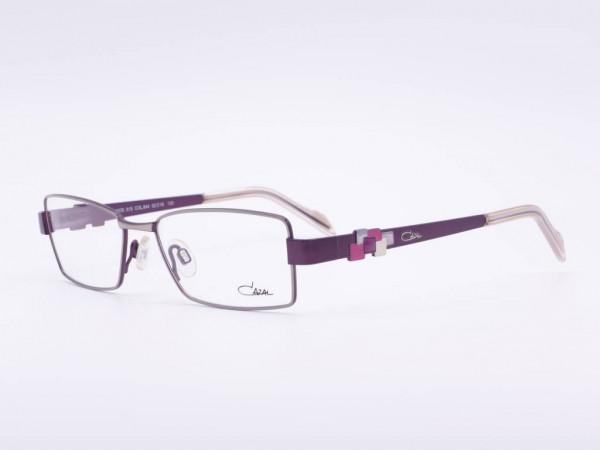 CAZAL Modell 515 rechteckige farbige Damen Brille Fassung Rahmen in Silber Violett Pink