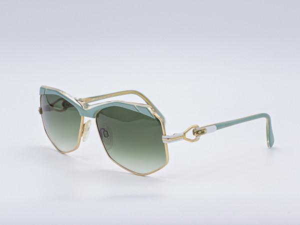CAZAL 230 West Germany Damen Sonnenbrille 80er Jahre Grün Verlaufs Gläser Neu Einzelstück GrauGlasses