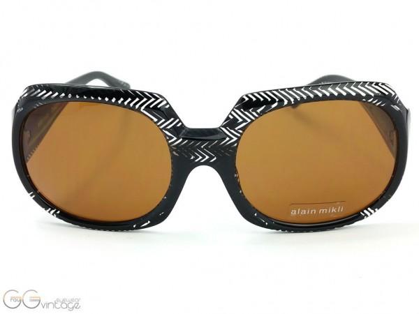 alain mikli Paris Sonnenbrille Modell A0466-02 PACT große schwarze Sonnenbrille