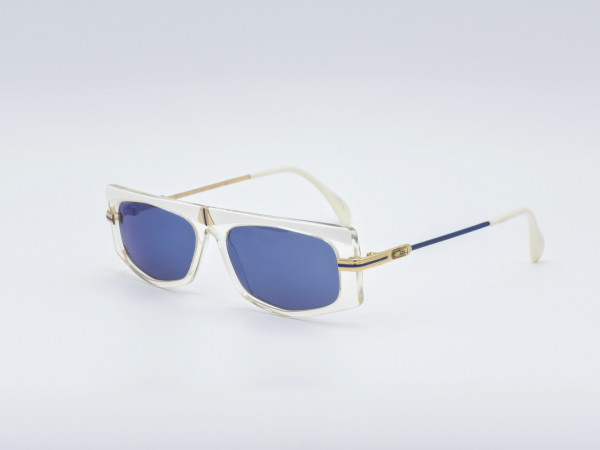 CAZAL 192 West Germany 80s Rechteckige Damen Sonnenbrille mit neuen blauen Gläsern Kunststoff