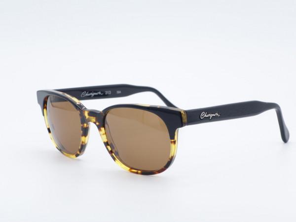 Chevignon Damen Panto Sonnenbrille 90er Jahre mit braunen Mineralgläsern Bernstein Farben Vintage Fassung GrauGlasses
