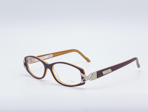 Cazal Damen Brille 312 rechteckig Kunststoff rotbraun modern GrauGlasses