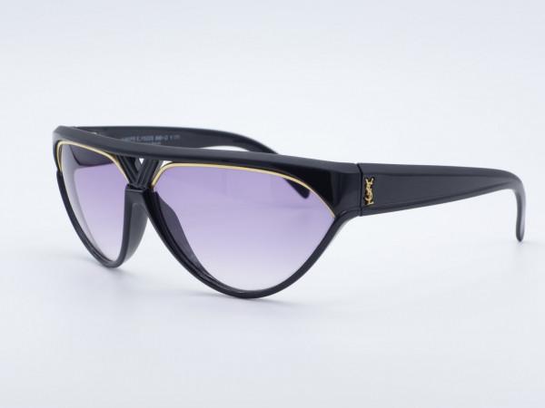 Yves Saint Laurent 8961Champs Elysees YSL Schwarz Cateye Woman Sonnenbrille lila Gläser
