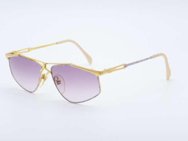 Roman Rothschild 1021 Damen goldene Sonnenbrille Violett Verlaufsgläser Schweiz GrauGlasses