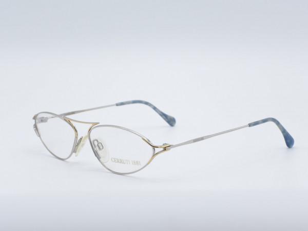 CERRUTI ovale Damen Brille Metall Luxus Frauen Fassung Modell 1824 GrauGlasses