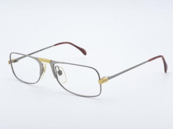 JAGUAR 331 Herren Silber Rechteckiger Metall Rahmen Lesebrille Titan Brille GrauGlasses