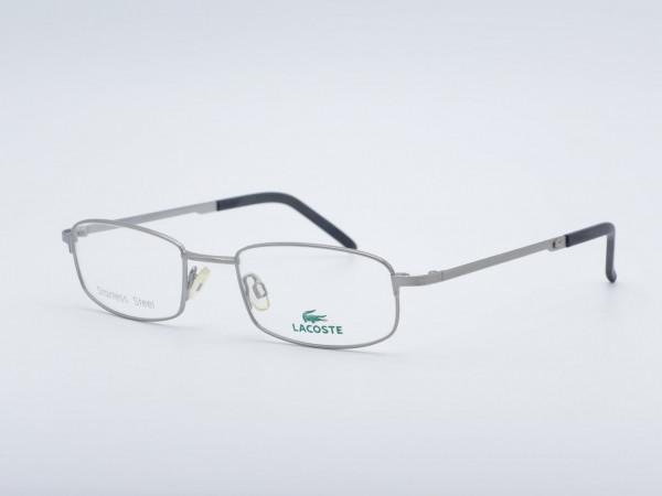 LACOSTE Fassung Silber Metall Herren Rahmen Edelstahl Rechteckige Brille 7429