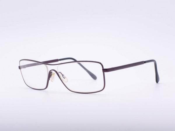 theo eyewear borsalino leichte Herren Brille Metall Rechteck Rahmen Weinrot Belgien GrauGlasses