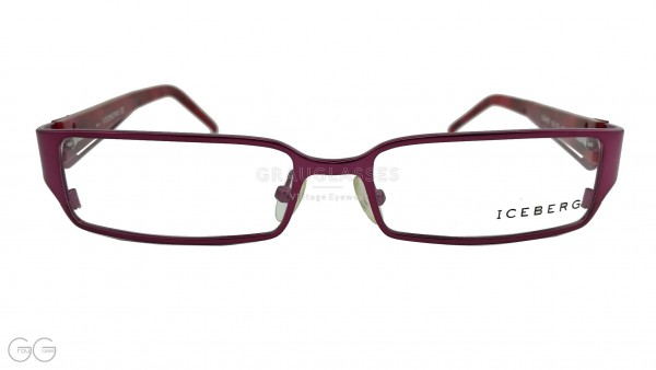 ICEBERG Vintage Brille Modell 04103 Color - dunkel-rot/violett